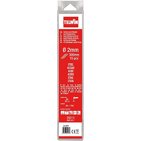 Telwin - Electrodos rutilos acero kit 15 piezas Ø 1,6 ...