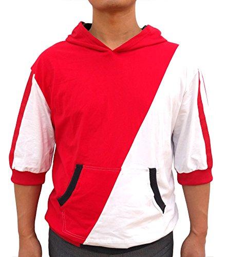 Pokemon Go Hoodie Men's Trainer Sweatshirt Cosplay Costume (Small, Red)
