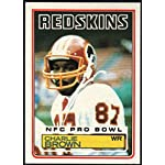 Football NFL 1983 Topps #188 Charlie Brown RC Redskins