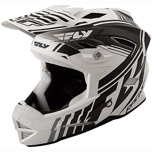 Fly Racing Youth Default BMX Helmet - Matte White/Black / Medium