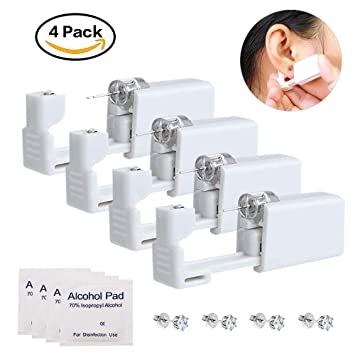 Amazon Com Autdor Ear Piercing Gun 4 Pack Sterile Ear Piercing
