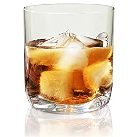 Vivocci Unbreakable 100% Tritan Plastic Rocks Whiskey & Old Fashioned Bar Glasses 12.5 oz   Thumb Indent Glassware   Unique Barware & Drinkware   Ideal for Cognac & Scotch   Dishwasher Safe  