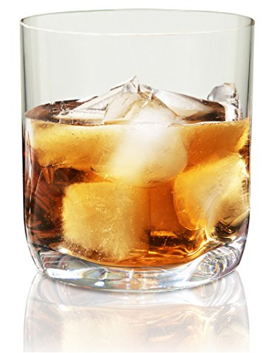 Vivocci Unbreakable Tritan Plastic Rocks 12.5 oz Whiskey & Double Old Fashioned Glasses | Thumb Indent Base | Ideal for Bourbon & Scotch | Perfect For Homes & Bars | Dishwasher Safe Barware | Set of 4 Accesory Set