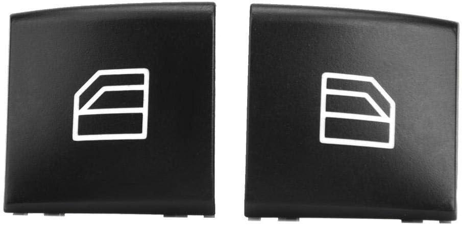 Qii lu 2 st/ücke Auto Elektrische Fensterheber Abdeckung Vorne Links Fensterheber Kappe f/ür ML GL R Klasse 05-12