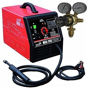 MIG 150 Amp gas sin gas soldador ventilador turbo refrigerado por aire 9325t 2 AÑOS DE GARANTÍA 150a: Amazon.es: Bricolaje y herramientas