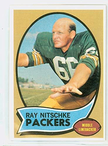 Ray Nitschke Green Bay Packers - 1970 Topps Football 55 Ray Nitschke Green Bay Packers Excellent