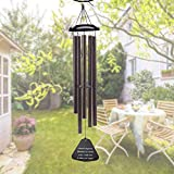 Large Wind Chimes Outdoor Deep Tone – 36 Inch Amazing Grace Wind Chimes with 5  Metal Tubes, Beautiful Memorial Wind Chimes, Perfect Gift for Family and Friends (A Free Card) Review