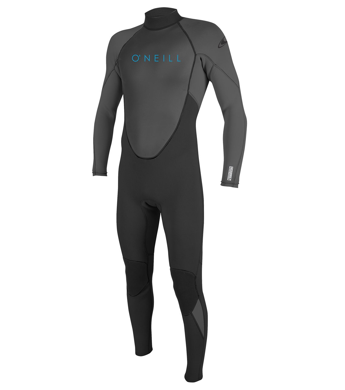 O'Neill Youth Reactor-2 3/2mm Back Zip Full Wetsuit, Black/Graphite, 4