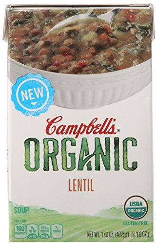 Campbell#039s Organic Soup Lentil 17 Ounce