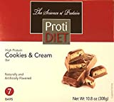 ProtiDiet High Protein Cookies & Cream Bar 15 grams protein per serving 7 servings