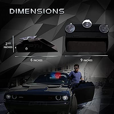 Prowler Emergency Dash Light - True Daytime Visible LED 18 Strobe Patterns for Law Enforcement, Warning, First Response, Fire, Security, and Traffic Control POV Vehicles - 2 Yr Warranty [Blue/White]: Automotive