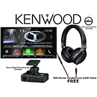 Kenwood DNX994S 6.95 Navigation System w/ Built in Bluetooth, HD Radio, Dash Cam DRV-N520 and FREE KH-KR900 Headphone Package