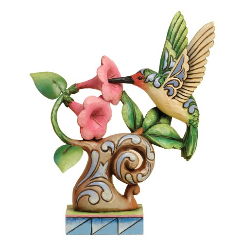 "Jim Shore Heartwood Creek Spring Wonderland Bird Stone Resin Figurine, 6.25"" (Jim Creek 56 Heartwood Shore)"