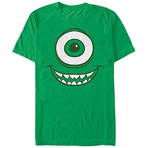 Fifth Sun Monsters Inc Men's Mike Wazowski Eye Kelly Green T-Shirt (Mike Wazowski Best Friend)
