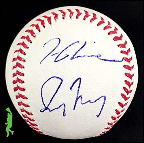(Tom Glavine Greg Maddux Autograph Signed Mlb Baseball Ball Braves Coa - JSA Certified - Autographed Baseballs)