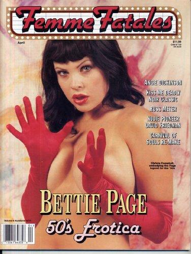 Femme Fatales Magazine Vol. #6 #10/11 April 1998 , Christa Campbell , Angie Dickinson , Russ Meyer , David Friedman , Bettie Page , Brinke Stevens , Mickey Spillane , Jennifer Love Hewitt , Sarah Michelle Gellar