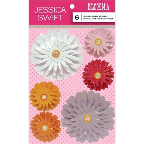 ANNA GRIFFIN 6 Count Blomma 3D Flower Stickers