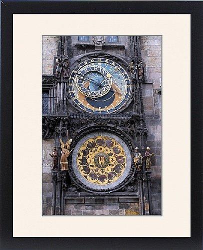 Con Marco de nieve de la Praga reloj astronómico