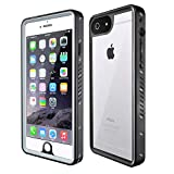 iphone 6 plus bullet proof - MixMart iPhone 6 Plus 6s Plus Waterproof Case IP68 Certified with Screen Protector Built in Full Body Protective Clear Case Shockproof Touch ID, Black