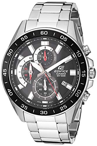 Casio Men's Edifice Quartz Watch with Stainless-Steel Strap, Silver, 4 (Model: EFV-550D-1AVCR)