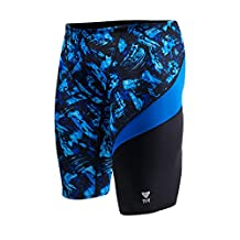 TYR Sport Men's Emulsion Wave Jammer Swimsuit, Blue, 38 Size