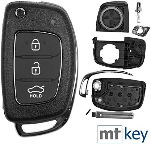 Car Flip Key Shell 3 Buttons Hyundai I10 I20 Elantra Elektronik