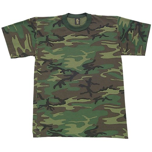 - Fox Outdoor Products Short Sleeve T-Shirt, Woodland Camo, Large