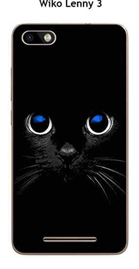 Onozo Carcasa Wiko lennyâ 3 Design Gato Negro: Amazon.es ...