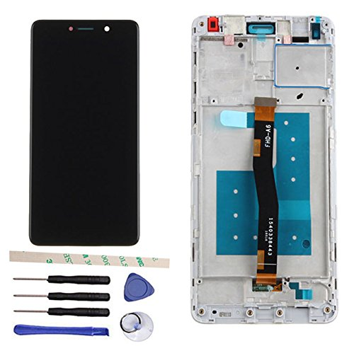 Draxlgon LCD Display Touch Screen Digitizer Assembly Replacemnt with Frame for Huawei GR5 2017 BLL-L21 BLL-L22 (Black)