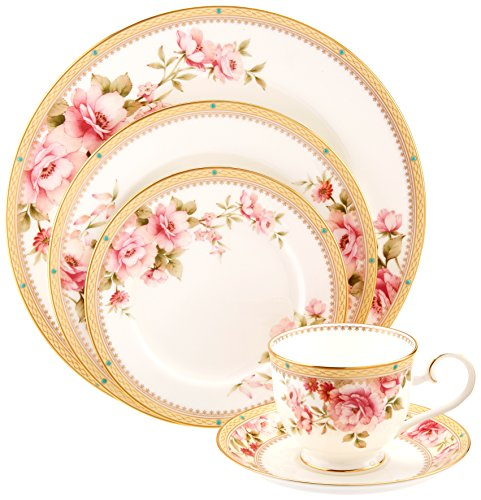 Noritake Gold Dinnerware - Noritake Hertford 5-Piece Place Setting