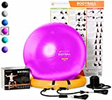Mantra Sports Exercise Ball Chair - Home Gym Fitness System – 65cm & 75cm Balance Ball With Stability Base - Resistance Bands - Workout Poster - Pump - Ideal for Physio, Yoga, Pilates - Men & Women