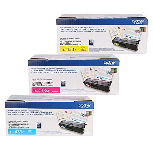 (Brother HL-L8360CDW (TN433) High Yield Toner Cartridge Set Colors Only (4,000 Yield))