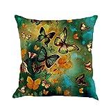 Software : Butterfly Throw Pillow Cases, Kimloog Square Flax Cushion Cover Car Sofa Home Decorative 18 x 18 Pillowcase (D)