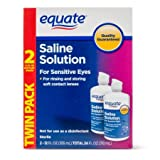 Equate Saline Solution, Contact Lens Solution for