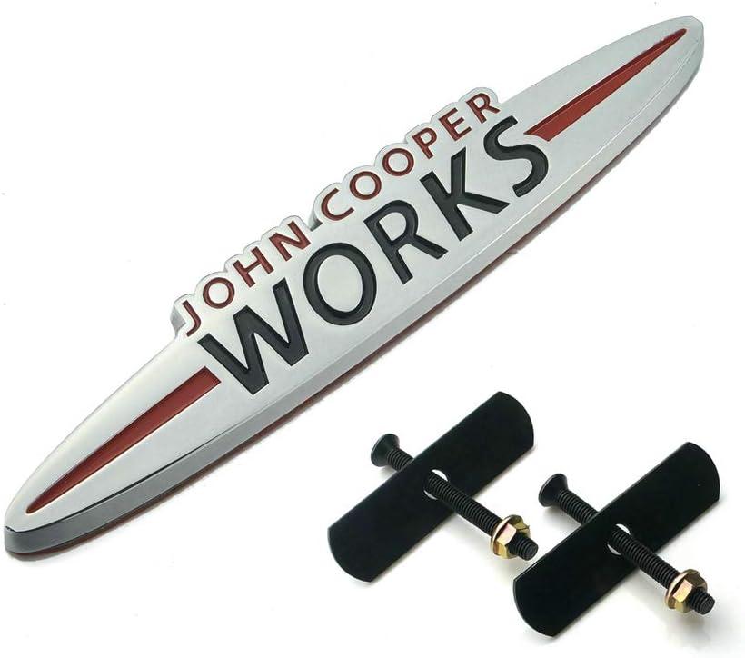 135MM QIDIAN for MINI Copper John Cooper Works Hatchback F//R series universal 3D Metal Car Grille Emblem Badge Sticker Emblem