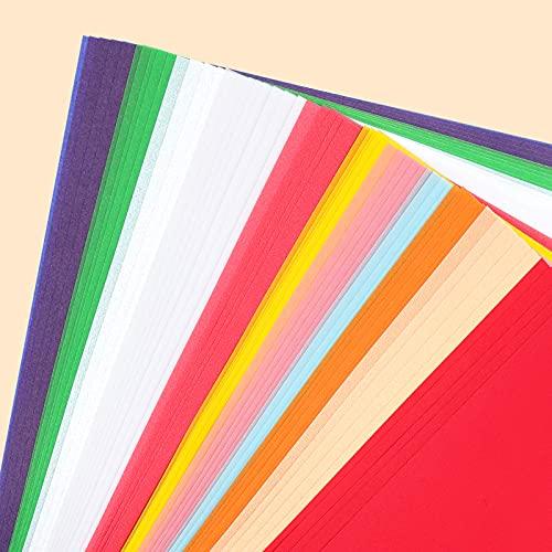 VGOODALL 60 Blätter Farbige Transparentpapiere, 10 Farben A4 Pergamentpapier mit weiß Halftransparentpapier zum Basteln Scrapbooking Kartengestaltung Dekorieren Skizzen