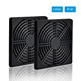 ELUTENG 120mm Fan Filter 2 Pack IP40 Dustproof Blower Guard ABS Computer Ventilator Grill 12cm Tool-Free Fan Strainer for 120x120 Case Fan USB Cooling Fan