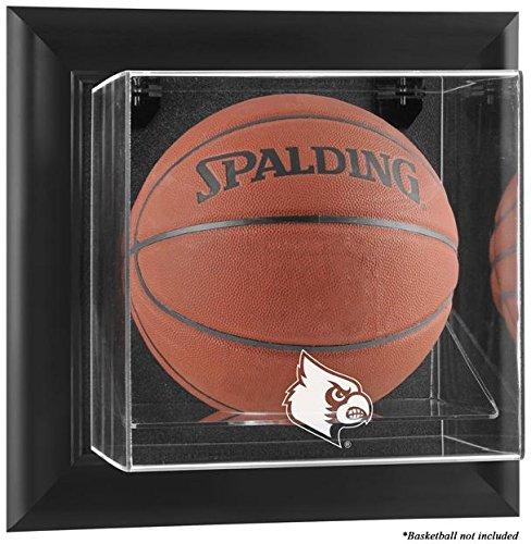 Louisville Cardinals Black Framed Logo Wall Mountable Basketball Display ()