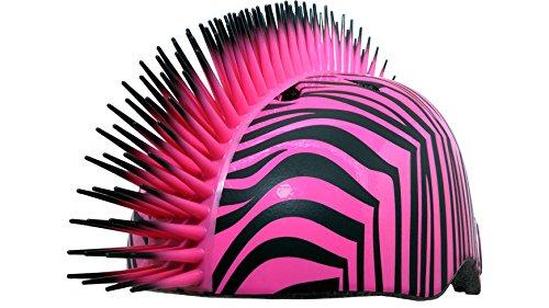 Krash Zebra Hawk Helmet, Youth 8 Years, Pink