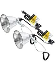 Simple Deluxe 2 Pack Clamp Lamp Light UL Listed with 5.5 Inch Aluminum Reflector 60 Watt with 6 Foot Cord
