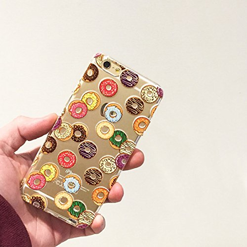 """Clear Plastic Case Cover for Apple iPhone 6 (4.7"""") - DONUT PANDEMONIUM dessert sugar food foodie muffin"""