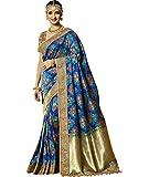 Maahir Garments Exclusive Indian Ethnicwear Banarasi Brocade Silk Royal Blue coloured Handloom Saree