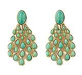 Aurelie Bidermann Gold-Plated Cherokee Turquoise Earrings