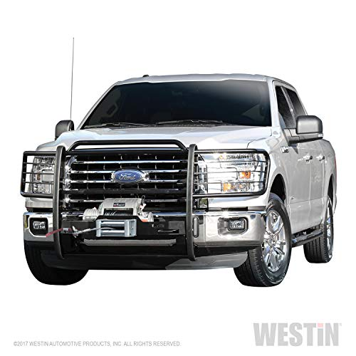 Brush Guard Mount - Westin 40-93835 Black Sportsman Winch Mount Grille Guard