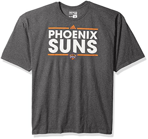 - adidas NBA Phoenix Suns Men's Dassler Short Sleeve Tee, 4X, Dark Gray Heathered