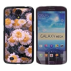 iKiki Tech / Estuche rígido - Flowers Daisies Winter Ice Art - Samsung Galaxy Mega 6.3 I9200 SGH-i527