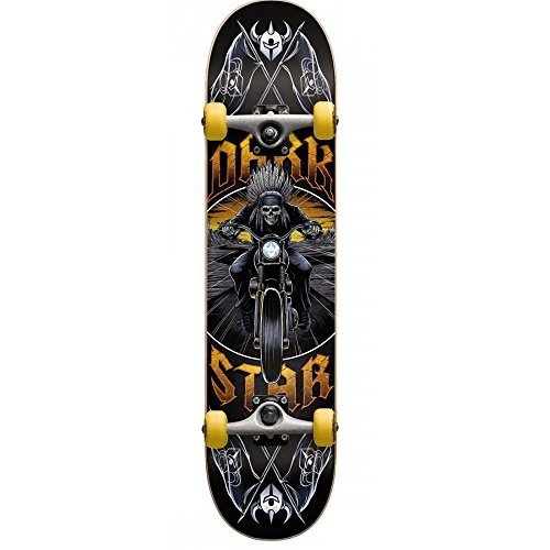 Dark 10512228Y Roadie Yellow Complete Skateboard, Yellow, Size 7.375MD