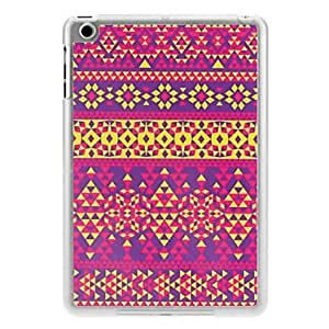 Various Shapes Pattern PC Hard Case with Transparent Frame for iPad mini