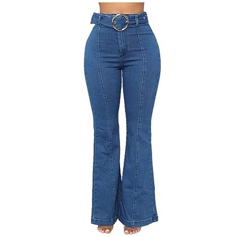 Jeans de mujer Mujeres Trapeando Lavado de cintura alta ...