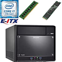 Shuttle SH110R4 Intel Core i7-7700 (Kaby Lake) XPC Cube System , 4GB DDR4, 120GB M.2 SSD, DVD RW, WiFi, Bluetooth, Pre-Assembled and Tested by E-ITX